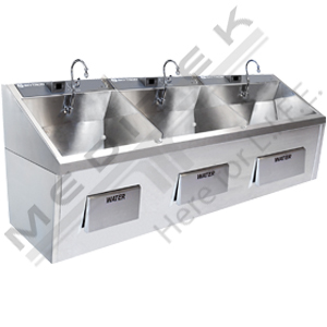 Skytron Triple Bay Scrub Sink
