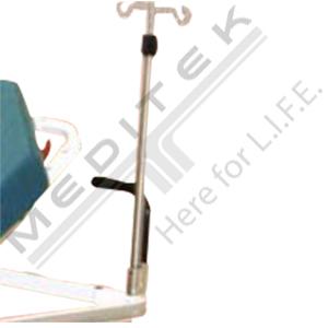 Permanently Attached Folding I.V. Pole 5010
