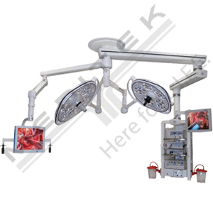 Skytron Central Tandem Mount With Flat Screen