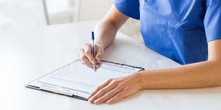 Nurse writing list