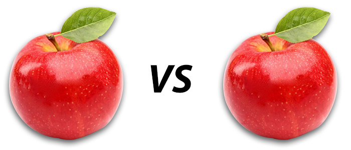 Apples vs apples