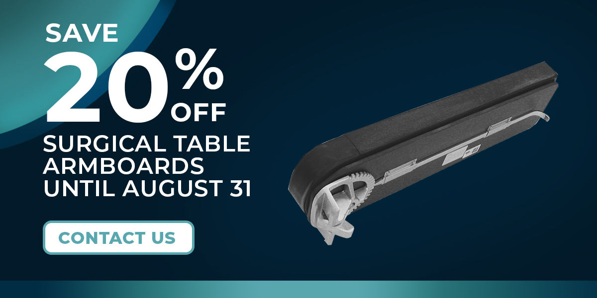 Surgical Table Arm Supports - 20% OFF