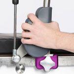 stirrups eliminates dangerous pinch hazards